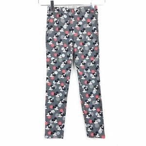 Gap girls gray Mickey Mouse printed leggings